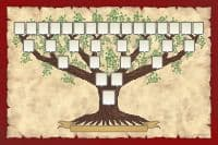 Ancestors Family tree template to great-great-grandparents