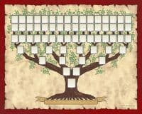 Ancestors Family tree template to great-great-great-grandparents