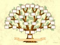 Family Tree template of five generations